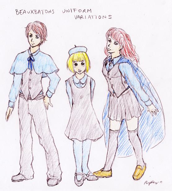Beauxbatons Uniform